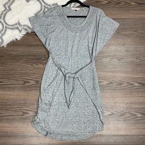 Rebecca Taylor Grey Tie Front Dress Size XS